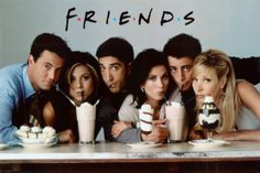 Friends Milkshake TV Poster Print