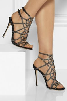 Sergio Rossi | Puzzle Basic embellished suede sandals |