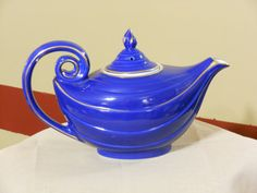Hall's China Genie Lamp Cobalt Blue Tea Pot with by RandysGallery