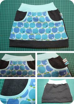 "Kinderrock Gr. 110 nach dem freebook ""little Sweat Skirt"" von Lin-Kim (https://freebookslinkim.wordpress.com/2015/08/05/little-sweat-skirt/)"