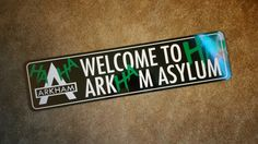 "Arkham Asylum Batman Joker HA HA Aluminum Metal Street Welcome Sign 24""x6"" Door Home Decor Man Cave Kids Game Office Room Gift Christmas"