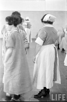 mental hospital nurse and inmate 1936