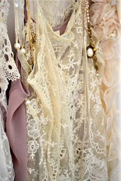 Lacy things and pearls, so nice