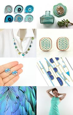 mint, turquoise and teal.... by Gillian on Etsy--Pinned with TreasuryPin.com