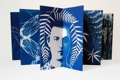 """@ the Houston Center for Contemporary Craft 'night rhythms"""", paper quilt, cyanotype on Rives BFK - twenty four 13"""" x 13"""" squares. ..."""