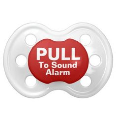 Pull To Sound Alarm Funny Pacifier #baby #pacifier