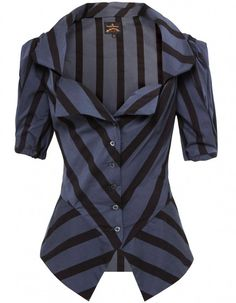 Vivienne Westwood - a good, tailored jacket, shows off your figure perfectly.  Wear with a knee length, a - line skirt.