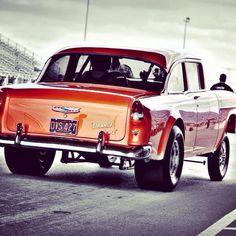 Gotta love Tri Five gasser Chevys.