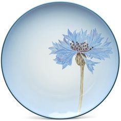 "Accent/Luncheon Plate—Floral, 8 1/4"" (Corn Flower)"