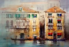 Venice watercolor painting by John Lovett