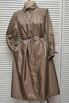 Ladies Vintage Raincoat Outerwear 60s Car Coat The door anything70s, $34.99