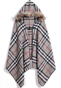 To find out about the Grey Hooded Plaid Scarve at SHEIN, part of our latest Scarves ready to shop online today! Fall Outfits For Work, Casual Fall Outfits, Winter Outfits, Ways To Wear A Scarf, How To Wear Scarves, Tartan Scarf, Plaid, Western Outfits Women, Cold Weather Outfits