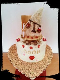 #σοκολατένια #τούρτα_γενεθλίων #ζυγός #ζαχαρόπαστα #chocolate #birhtdaycake #libra #byron_dragees #κουφέτα_βύρων #zodiac_cake