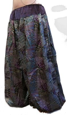 Tribal fusion belly dance pants pantaloons monsterloons harem pants. Gorgeous purple gypsy patchwork brocade!