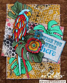 Scrapbook Flair: Jumbo Parrot Projects with Stampendous
