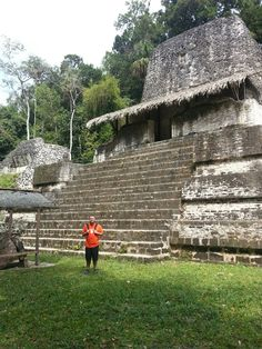 Me in Tikal next one of the many pyramids...