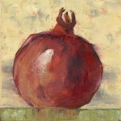 Tuscan Pomegranate Painting by Pam Talley - Tuscan Pomegranate Fine Art Prints and Posters for Sale