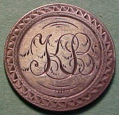 1858 Seated Liberty Quarter Love Token -- Initials  KB