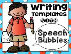 FREE: Writing Templates with Speech Bubbles