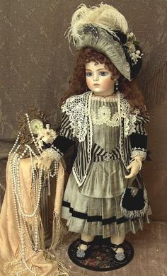 Bru Jne 14 Antique Repro Doll