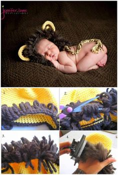 Brave Baby Lion Crochet Hat - 50 Free Adorable Baby Crochet Hat Patterns