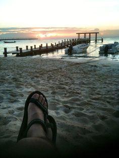 La salida del sol a las 6:30 am en el Caribe
