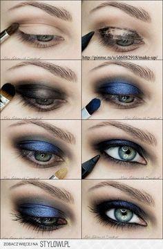 Royal blue smokey eyes