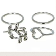 5/$25 Silver Or Gold Tone Midi Ring Set Of 4