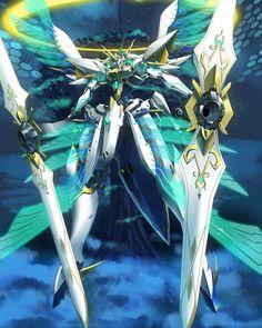 absurdres clouds giant_tree halo highres mecha moyashi_(karamisouma) night no_humans siren_(xenoblade) sky wings Robot Concept Art, Armor Concept, Robot Art, Fantasy Armor, Dark Fantasy Art, Fantasy Character Design, Character Art, Xenoblade X, Creepypasta Anime