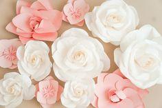 Blogger Katelyn Jones A Touch of Pink Nursery Paper Flowers