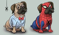 """""""A pug wearing a Spider-Man suit.""""   This Is What Happens When You Ask The Internet To Draw Your Imagination"""