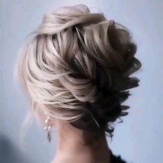 Bun Hairstyles For Long Hair, Short Hair Updo, Short Wedding Hair, Braids For Long Hair, Medium Hair Styles, Curly Hair Styles, Hair Upstyles, Wedding Hair Inspiration, Hair Videos