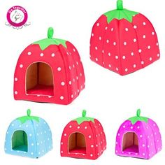 BOSUN(TM) Unique Strawberry Pet Dog Cat Bed Soft Fleece Sponge Padded Dog House Warm Folding Dog Kennel Washable * Read more reviews of the product by visiting the link on the image. (This is an affiliate link and I receive a commission for the sales)