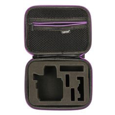 Soyan Small Carrying Case for GoPro Hero 5/4/3 /3/2/1 Sports Action Camera and Accessories (Black and Purple) * To view further for this item, visit the image link. (This is an Amazon Affiliate link and I receive a commission for the sales)