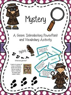 Mystery genre PPT and activity for grades 2-3 $ on TpT