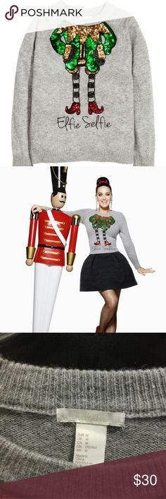 """H&M Elfie Selfie Wool Sweater New w/o tags, wool sweater with cute """"Elfie Selfie"""" design part of Katy Perry H&M holiday collection 2015. H&M Sweaters Cowl & Turtlenecks"""