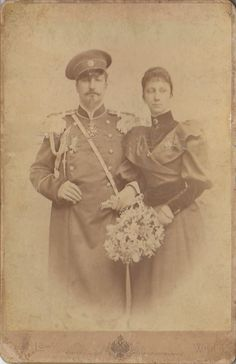 Tzar Ferdinand of Bulgaria and his first wife Marie Louise of Bourbon-Parma.