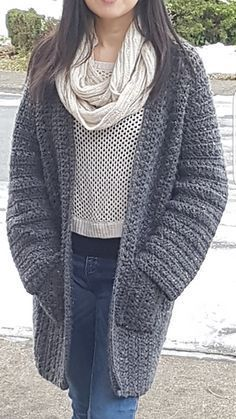 A simplified version of my other pattern Simply X-Stitch Lounge Cardigan, this basic but trendy cardigan is very quick and easy to make. Designed using worsted weight yarn approximately 1400 - 2000 yards and crochet hook size J / 5.5 mm.