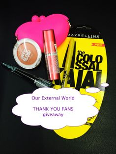 Enter Our External World's Giveaway To Win Goodies from Maybelline