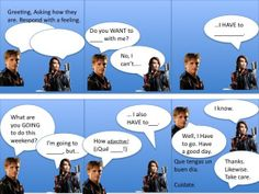 Create a template for a comic on powerpoint and have your students make their own dialogue.
