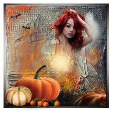 """Halloween Art"" by louvillia ❤ liked on Polyvore featuring art"