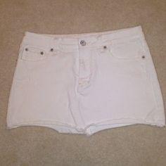 American Eagle white denim skirt - $14