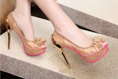 4 INCH HIGH HEEL PUMPS LACE WOMENS SEXY SHOES