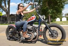 ❤️ Women Riding Motorcycles ❤️ Girls on Bikes ❤️ Biker Babes ❤️ Lady Riders ❤️ Girls who ride rock ❤️TinkerTailorCo ❤️ Women Riding Motorcycles, Old Motorcycles, Riding Bikes, Sportster Chopper, Chopper Bike, Ironhead Sportster, Harley Softail, Lady Biker, Biker Girl