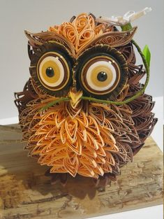 Quilling Owl,Day Gifts,Handmade Quilling Owl made from paper strips,cuted by hand. Will be a perfect decoratiom for your house. Arte Quilling, Quilling Work, Paper Quilling Patterns, Origami And Quilling, Quilled Paper Art, Paper Owls, Quilling Paper Craft, Paper Crafts, Quiling Paper