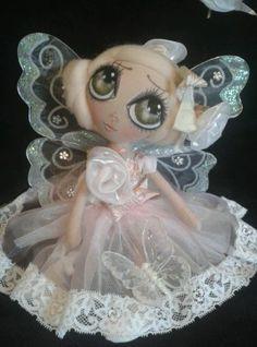 flower fairy rag doll by Philomena dolls