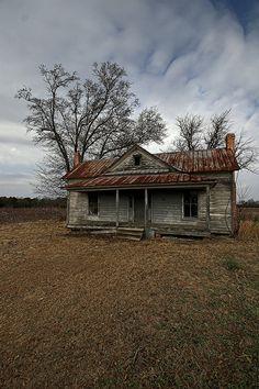 Farmhouse   farmhouse in cotton field, southeastern NC by Brain Vetter
