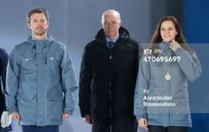 Crown Prince Frederik of Denmark attends the medal ceremony for the Women and Men Mixed Relay at the Sochi 2014 Olympic Games. 20/2/2014
