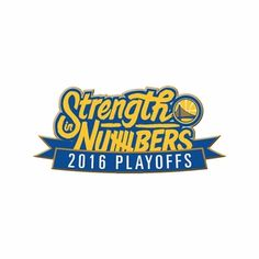 Golden State Warriors Aminco 2016 NBA Playoffs Strength In Numbers Lapel Pin