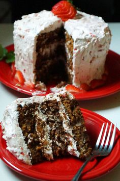 """AIP ( use as treat or birthday cake ) Southern Style Strawberry """"Jello"""" Cake  APPARENTLY DELICIOUS FROM REVIEWSTheCuriousCoconut.com"""